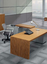 2015 popular modern design high quality green certification veneer customized office desk executive table