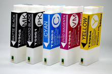 For Epson pro 9700 ink cartridge,with 350ml pigment ink T5961PK T5962C T5963M T5964Y T5968, With chip