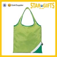 Alibaba China Wholesale Custom Polyester Folding Supermarket Shopping Tote Bag