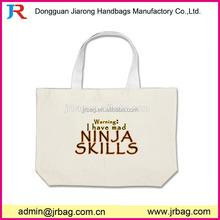 oem production standard size cotton canvas tote bag, fantastic value priced big bag cotton tote bag