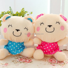 Custom High Quality Lovely Stuffed Animal Valentine's Day Plush Toys Animals,soft hairy ball toy