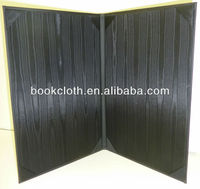 Black Moire Silk for Folders