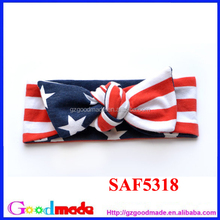 lovely baby headband for 4th of July with stars flag hot sale in 2015