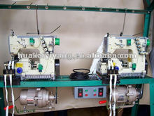 High speed sewing machine for making polyester zipper