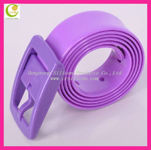 Popular fashion silicone belt with plastic buckle,many colors silicone belts for promotion,silicone rubber belt for golf funs