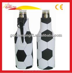 Eco-friendly Customize 330ML Neoprene Foam Wine Beer Folded Collapsible Bottle Cooler Holder Bag