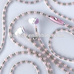 New coming China necklace earbud and fashion portable earbuds for girls