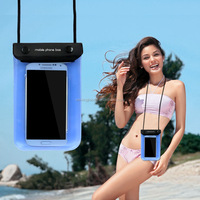 Cheap PVC waterproof phone case Two zippers Outdoor Water resistant Dry Pouch For Swimming