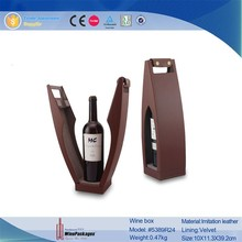 wholesale hot selling wine gifts packaging box leather wine carrier