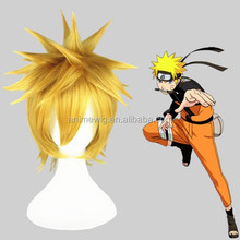 High Quality 35cm Short Straight Bleach Cosplay Hair Wigs Kurosaki ichigo Light Blonde wigs Synthetic Anime Cosplay Wig