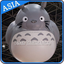 Inflatable flying giant hamster / Inflatable helium big animal for show/ inflatable advertising cartoon