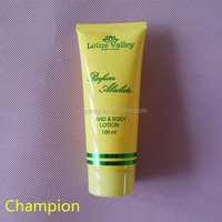 yellow colored tube packaging for cosmetics