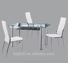 2015 most popular of the highest quality dining table glass table legs of stainless steel dining table