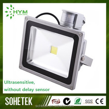 outdoor 5000 lumen 50w led flood light with pir sensor With SAA C-tick CE RoHS