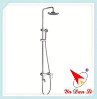 chrome plating brass round bathtub shower column 9511