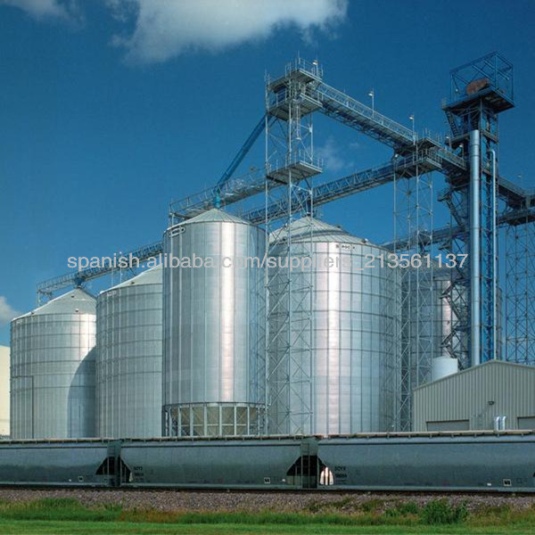 Silos de 50 a 3000 toneladas(con conos aéreos),Silos Agrícolas, Silo de acero