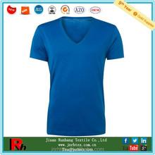 China wholesale women v neck cotton blank t-shirt no label