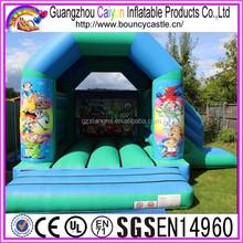 New design inflatable moonwalks with slide combo