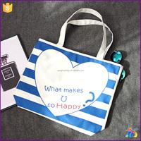 2016 Most Popular Cute Printing Canvas Beach Bag wholesale bags