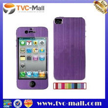 Color Brushed Aluminium Skin Sticker for iPhone 4 (Front and Back)