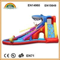 Shark design inflatable water slide, inflatanle slide, big inflatable water slide