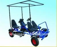 Dual person go-kart,four person surrey bike,go kart with 4 wheel drive