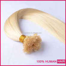 China top ten selling prodcuts 100 unprocessed u tip pre braided hair weaving