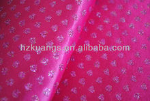 glitter dots printed satin fabric