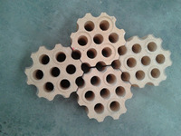 Honeycomb checker brick for hot blast stove