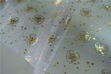 Jingle bell pattern table runner organza for christmas home decor