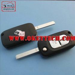 Hot sale renault key case for renault flip remote key casing for renault flip key