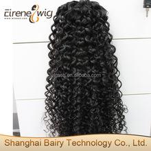 Eirene factory price supply wrap around red remy human human hair drawstring clip on ponytail