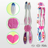 Personalized own design toothbrush set, adult toothbrush manufacturer