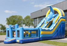 Commercial Inflatable Dolphin slide for kids party
