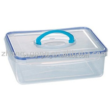 4000ml stackable clear plastic food storage container with lid &handle