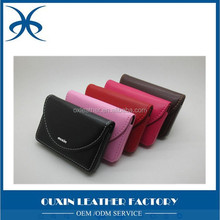 Ouxin Factory Men Women Trifold Credit Debit ID Solts Business Card Holder Collection Leather Namecard Case