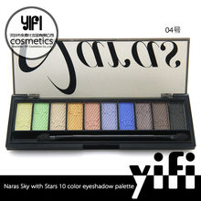 Fashionable cosmetics NARAS sky with star series 10 color wholesale makeup eyeshadow palette