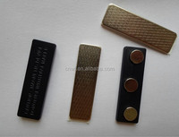 metal case square magnetic name badges/Magnetic Name Badge