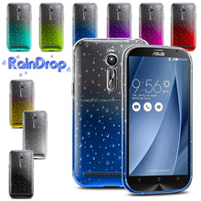 New products on china market TPU Gradient Color Change Back Cover for Asus Zenfone 2 5.5 raindrop case with color changing