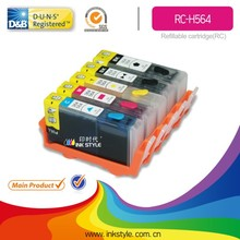 Inkstyle refillable cartridge H564 for HP PhotoSmart C6300/C6324/C6340/C6350/C6375/C6380/C6383 with chip