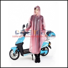 High quality transparent long PVC raincoat / motorcycle raincoat