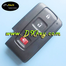 No logo!! 2+1 buttons car remote shell without emergency key blade for Toyota Prius key cover auto smart key for toyota