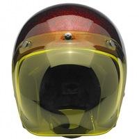 european motorcycle helmets with yellow shield visor