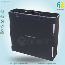 cardboard matte black box with handle