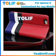 2015 Newest Design Wallet leather stand Phone Case For Iphone 6 Case, For Iphone 6 Cover Phone Case ,for iphone case
