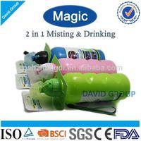 Creative Magic 2 in 1 Misting&Drinking FDA BPA Free Water Bottles Joyshaker Without Labels