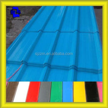 corrugated trapezoidal curved glazed metal flat roof tiles