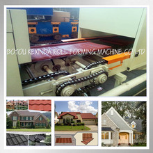 color stone coated roof rocky tile roll-fomer machine