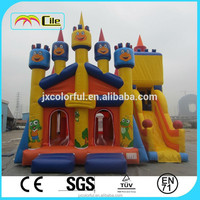 CILE 2015 Newly Design Funny Frog Inflatable Slide Castle Combo Games