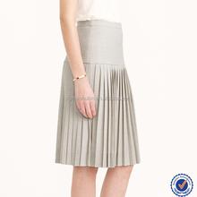 Nova chegada moderno multi color moda saia plissada mulheres vestidos e saias de algodão plissados meninas saias